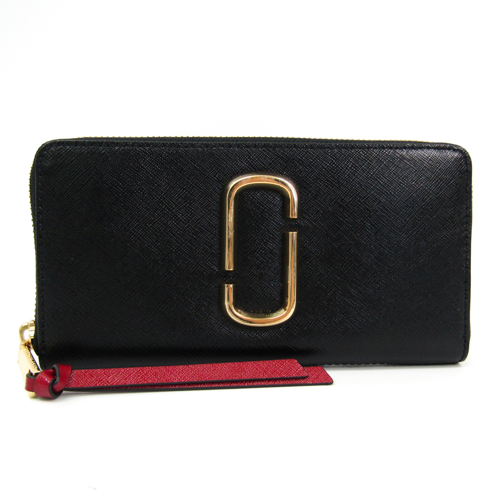 マーク・ジェイコブス(Marc Jacobs) Snapshot Standard Continental Wallet M0013352 レディース コーティングレザー 長財布(二つ折り) ボルドー,ブラック 【中古】
