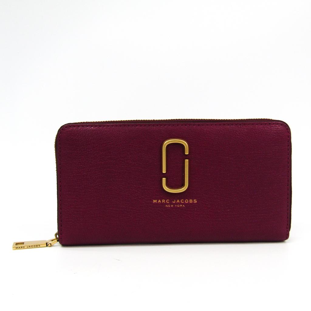 マーク・ジェイコブス(Marc Jacobs) Double J Standard Continental Wallet M0012073 レディース ゴートスキン 長財布(二つ折り) パープル 【中古】