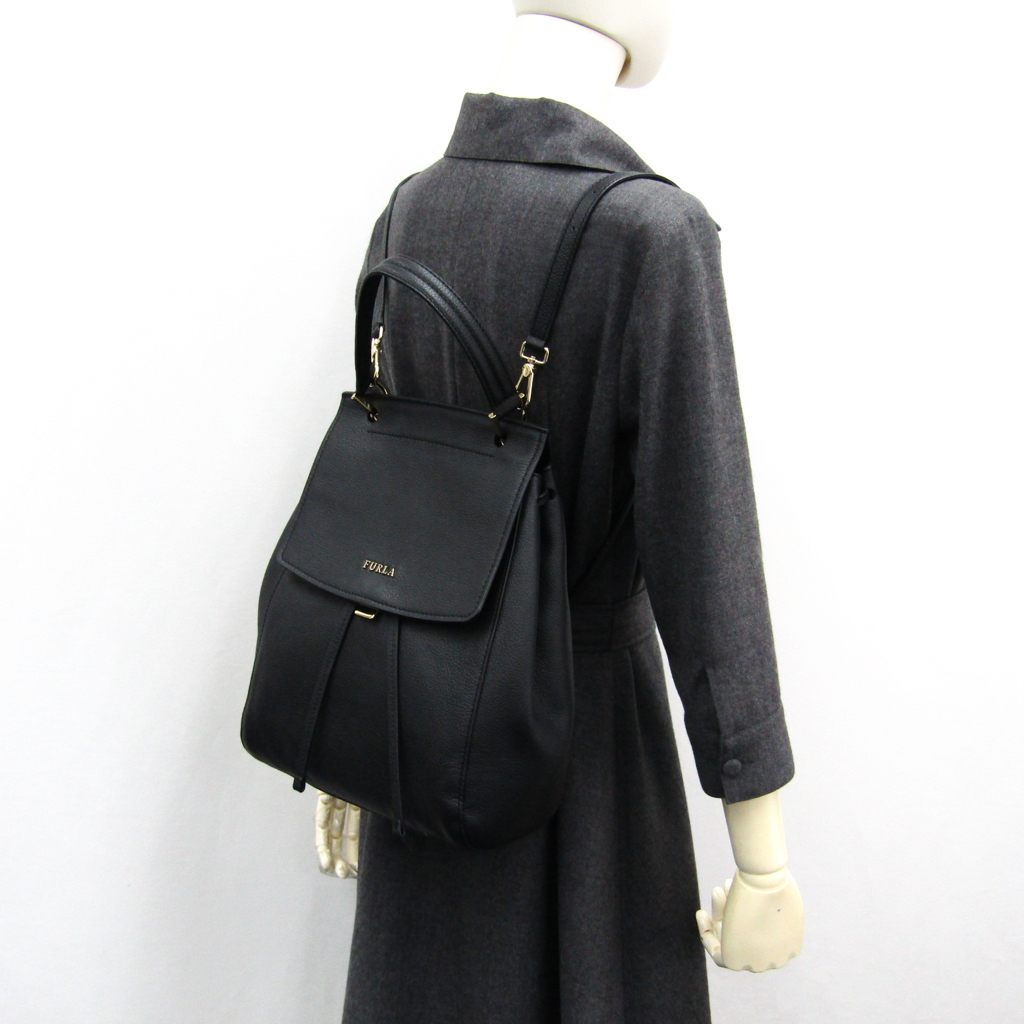 3c065bdca11 Full lah (Furla) 891979 lady's leather rucksack, handbag black