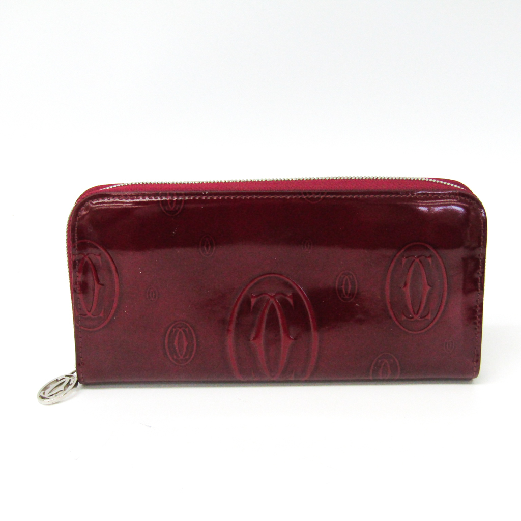 カルティエ(Cartier) ハッピーバースデー L3001283 レディース カーフスキン 長財布(二つ折り) ボルドー 【中古】