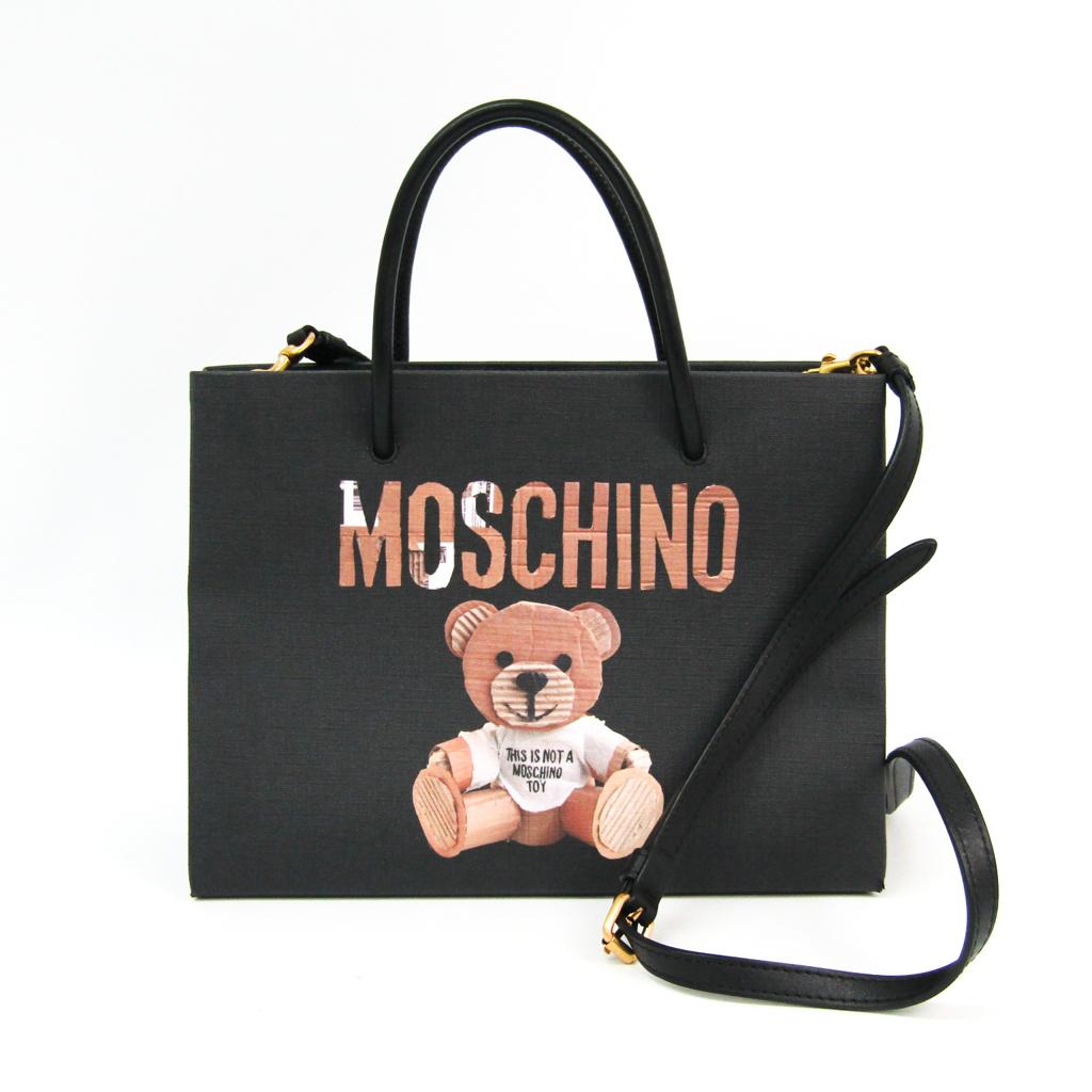 b51bc5b994 Moschino (Moschino) teddy bear A75738210 Lady's polyurethane, leather tote  bag black, brown ...