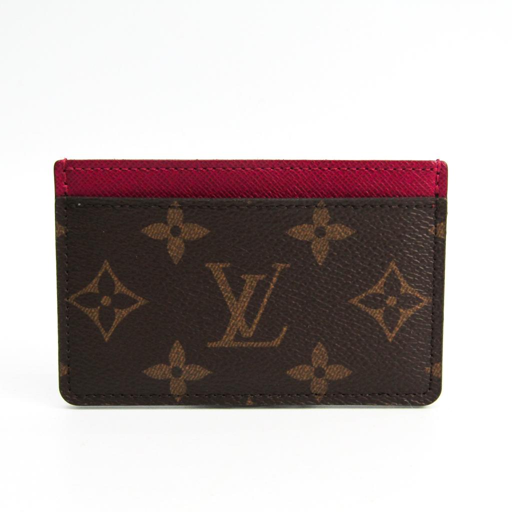 ルイ・ヴィトン(Louis Vuitton) モノグラム モノグラム カードケース フューシャ,モノグラム ポルト カルト・サーンプル M60703 【中古】