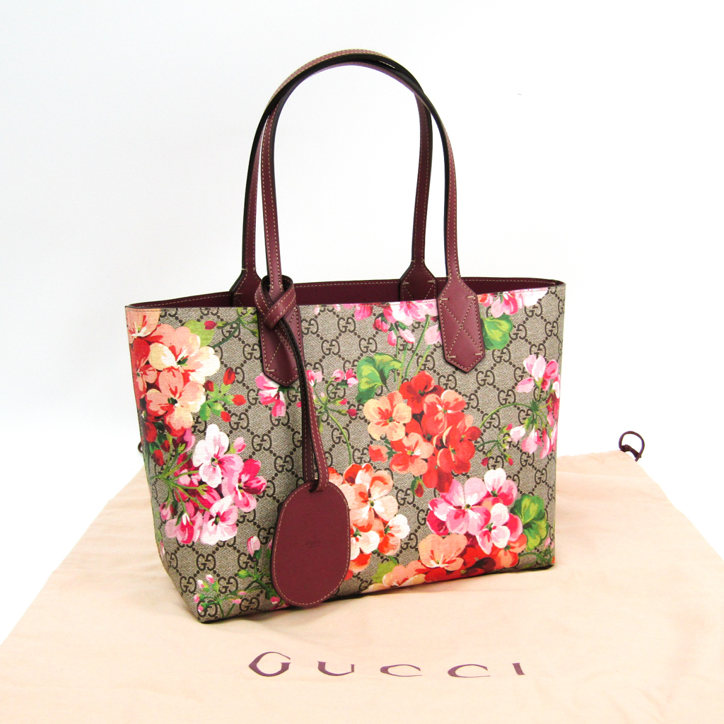 0662c019c ... Gucci (Gucci) GG bloom GG leather reversible 372613 lady's GG leather  tote bag beige