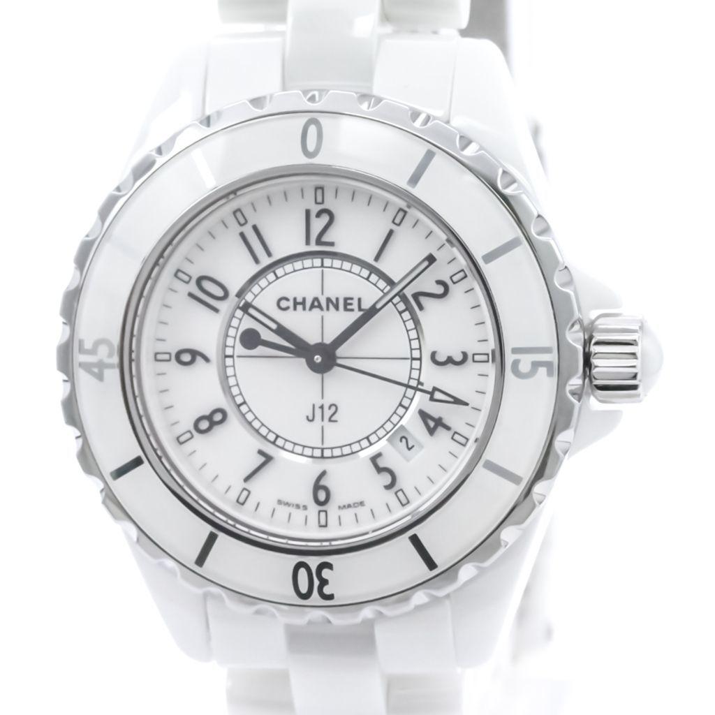 【外装仕上げ済み】【CHANEL】シャネル J12 セラミック クォーツ レディース 時計 H0968【中古】
