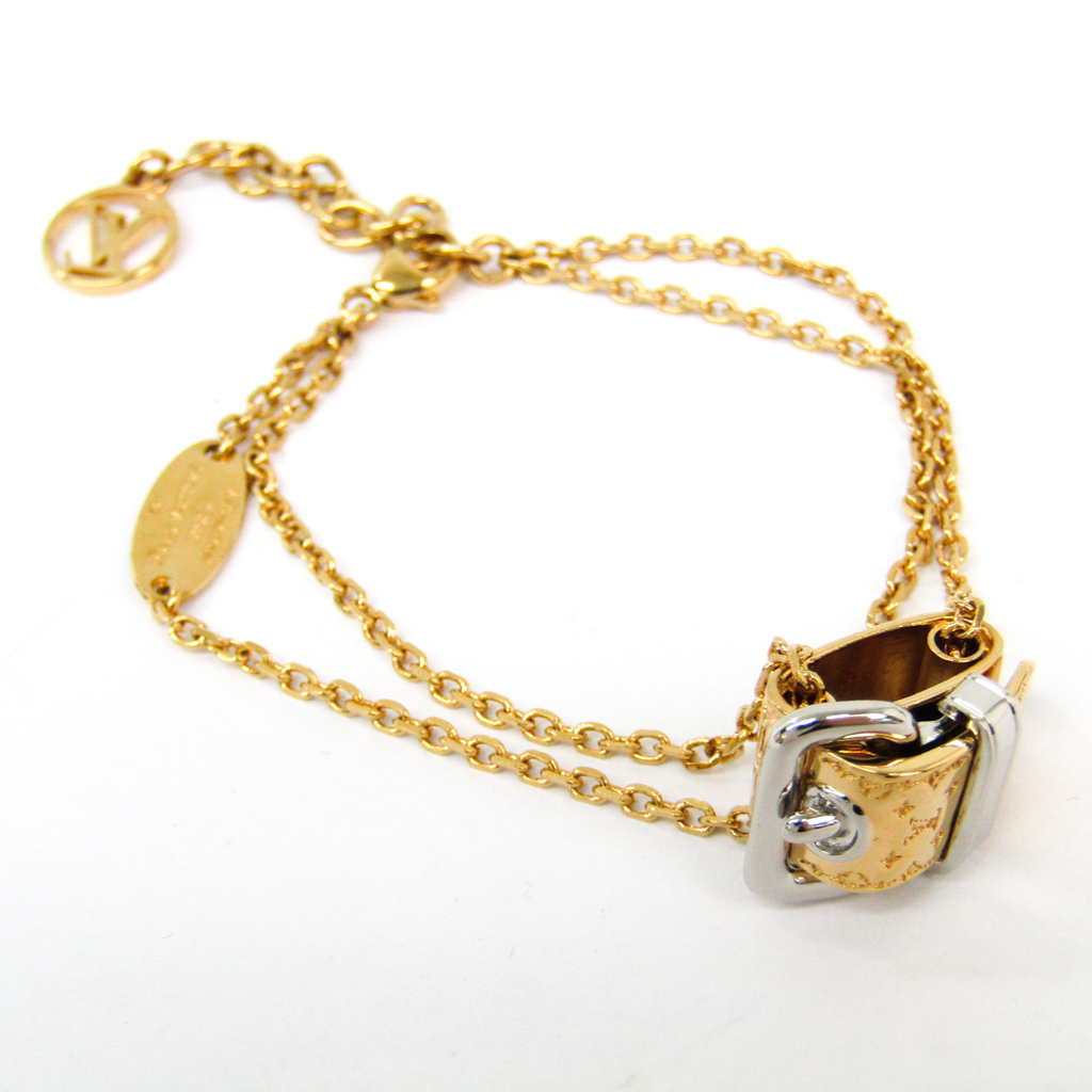 ルイ・ヴィトン(Louis Vuitton) ブレスレット・ナノグラム M64704 メタル チャームブレスレット ゴールド,シルバー 【中古】
