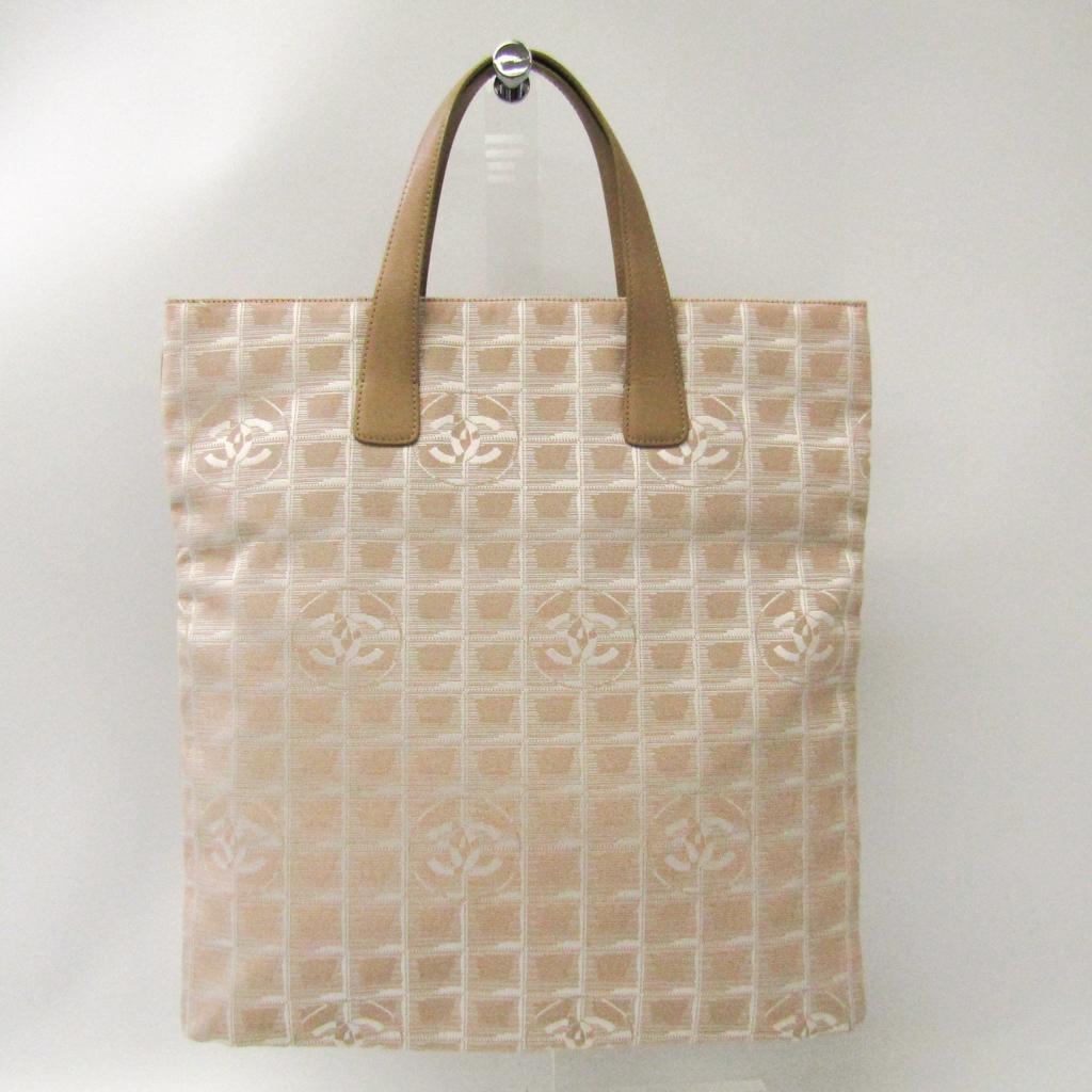 シャネル(Chanel) ニュートラベルライン レディース ニュートラベルライン トートバッグ ベージュ 【中古】
