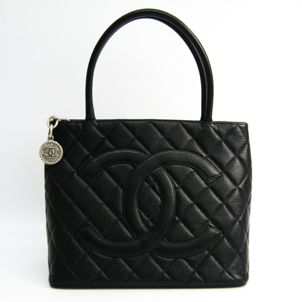 シャネル(Chanel) キャビア・スキン 1804復刻 A1804 レディース レザー ハンドバッグ ブラック 【中古】