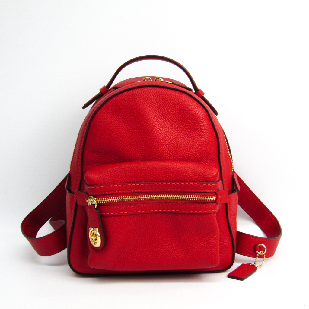 367ed49b76a7 Coach (Coach) campus backpack 23 31032 Lady s leather rucksack red