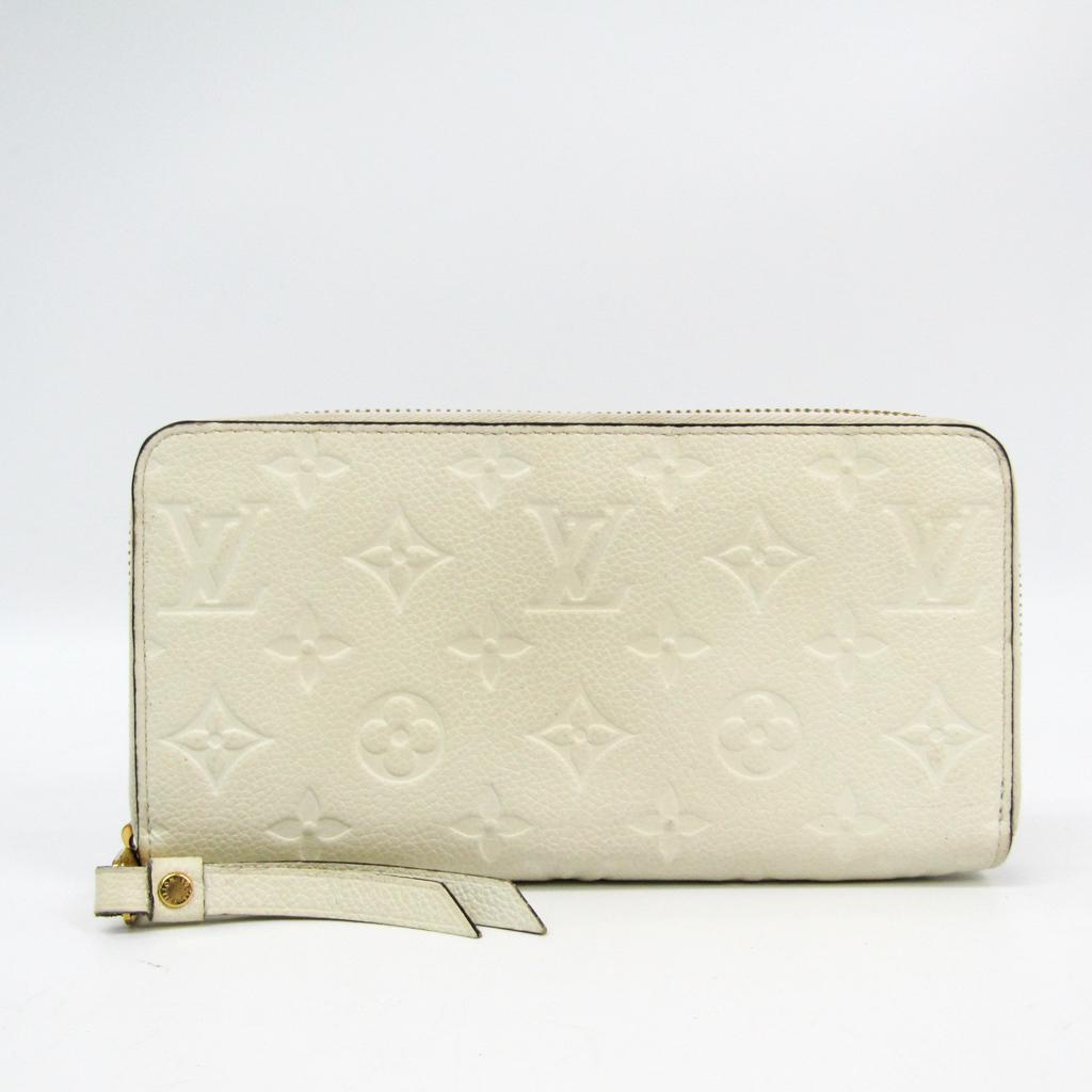 ルイ・ヴィトン(Louis Vuitton) モノグラムアンプラント ジッピー・ウォレット M60546 レディース モノグラムアンプラント 長財布(二つ折り) ネージュ 【中古】