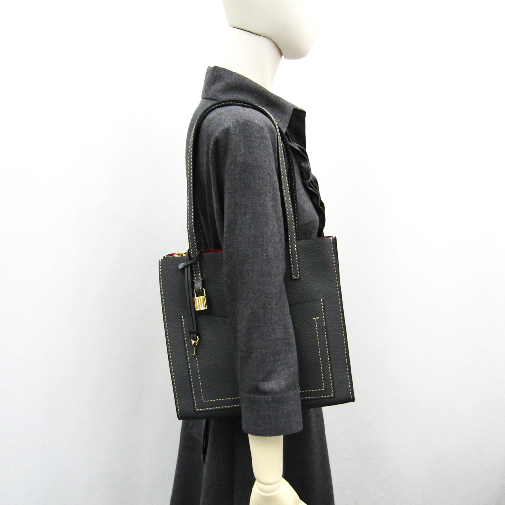 7e9fc82d855e Mark Jacobs (Marc Jacobs) medium T pocket M0014009 Lady's leather tote bag  dark gray to grind