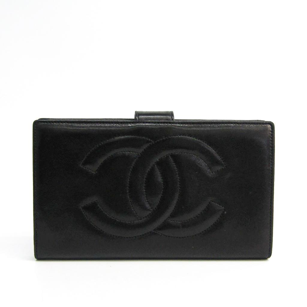 シャネル(Chanel) A13498 レディース ラムスキン 長財布(二つ折り) ブラック 【中古】