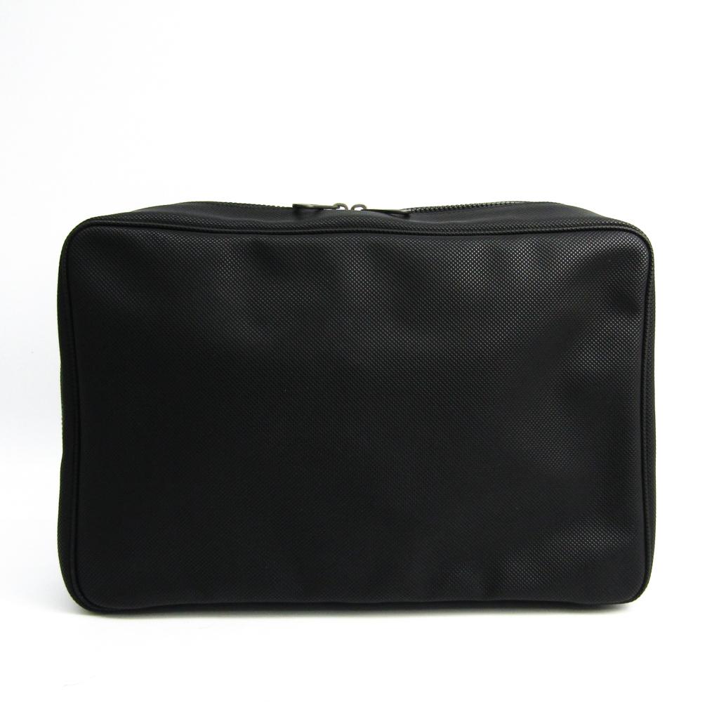 ボッテガ・ヴェネタ(Bottega Veneta) 130430 メンズ PVC クラッチバッグ ブラック 【中古】