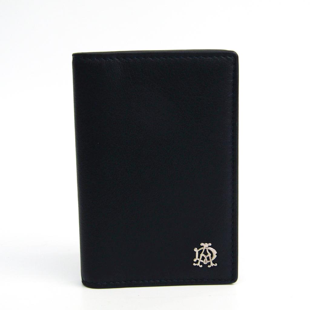 ダンヒル(Dunhill) レザー カードケース ネイビー 【中古】