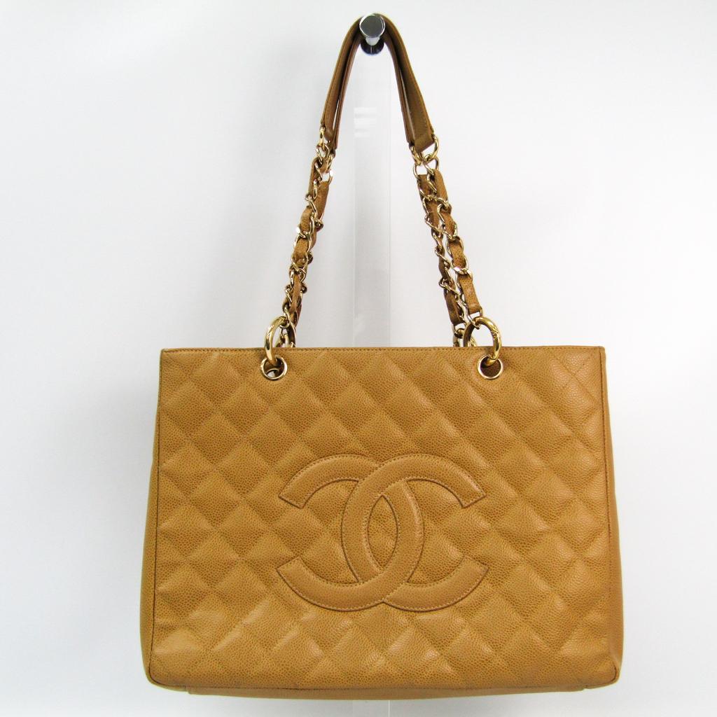 シャネル(Chanel) キャビア・スキン グランド・ショッピング トート A50995 レディース レザー ショルダーバッグ キャメル 【中古】