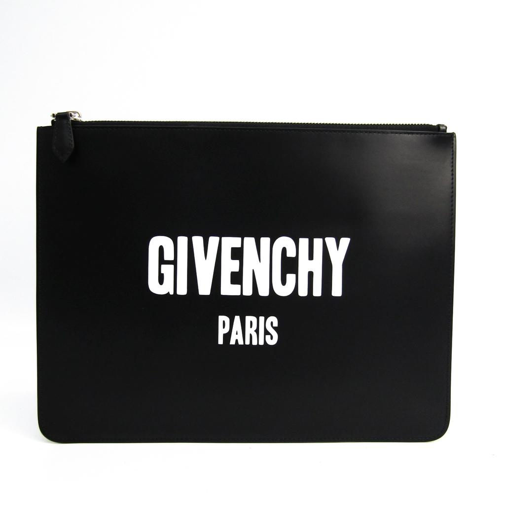 ジバンシィ(Givenchy) BK06071562001 ユニセックス レザー クラッチバッグ ブラック,ホワイト 【中古】