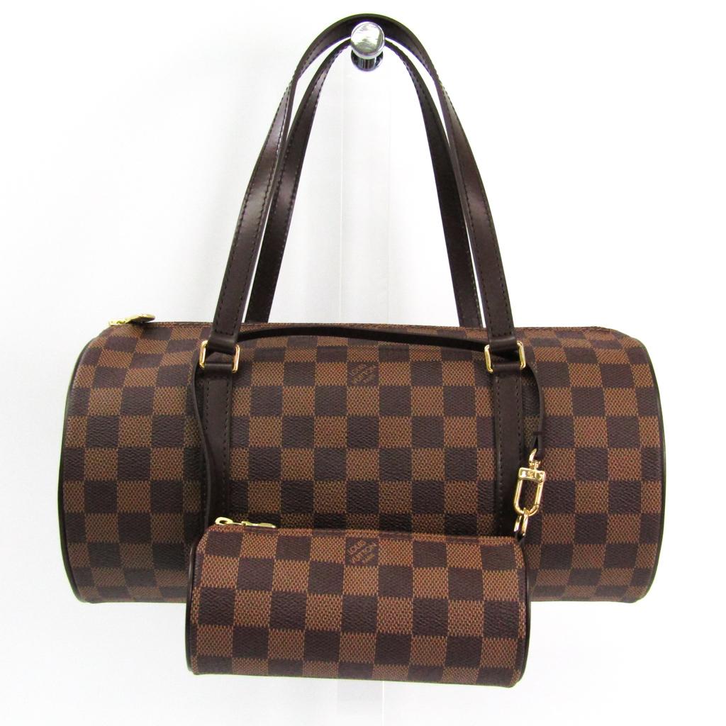 ルイ・ヴィトン(Louis Vuitton) ダミエ パピヨン30 N51303 ハンドバッグ エベヌ 【中古】