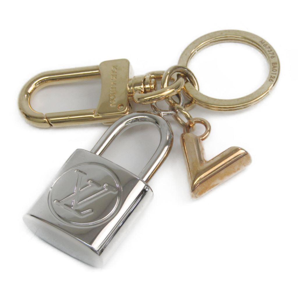 ルイ・ヴィトン(Louis Vuitton) キーホルダー (ゴールド,ピンクゴールド(PG),シルバー) バッグ チャーム・カレイド V パドロック M67376 【中古】