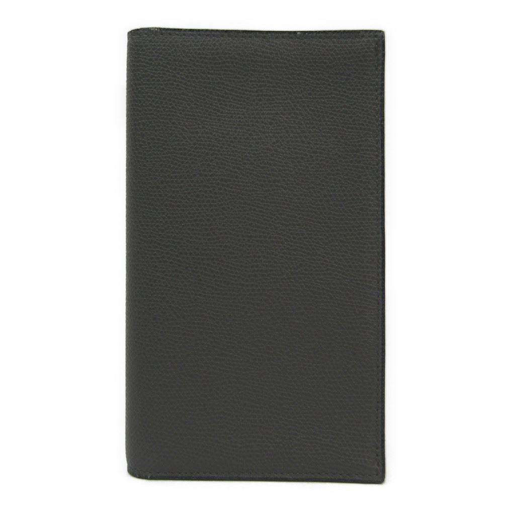 ヴァレクストラ(Valextra) V8L70 メンズ レザー 長財布(二つ折り) グレー 【中古】