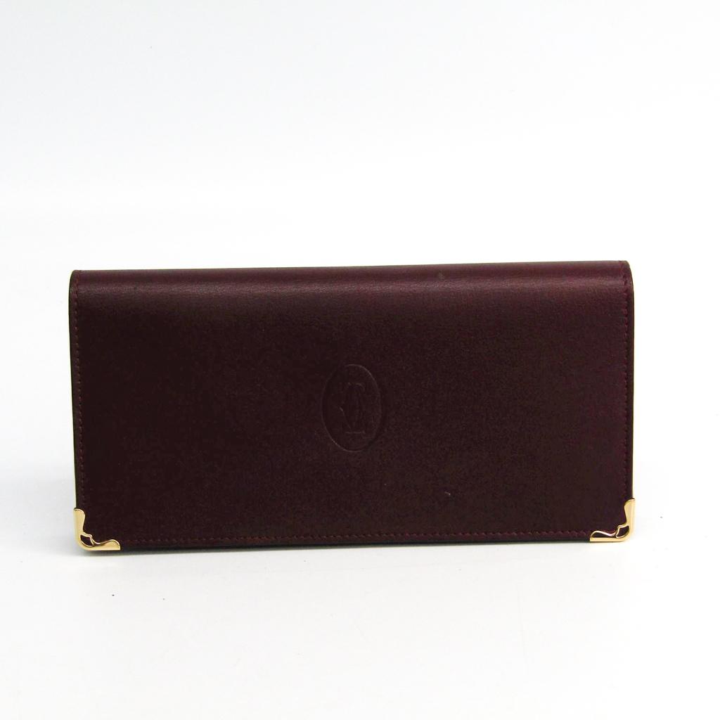 カルティエ(Cartier) マスト L3001362 レディース カーフスキン 長財布(二つ折り) ボルドー 【中古】