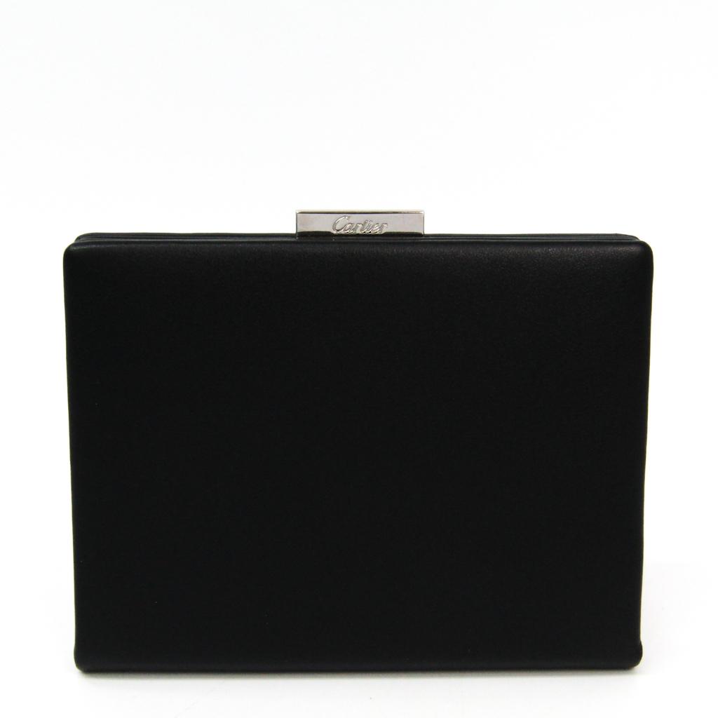 カルティエ(Cartier) L3000601 メンズ カーフスキン 小銭入れ・コインケース ブラック 【中古】