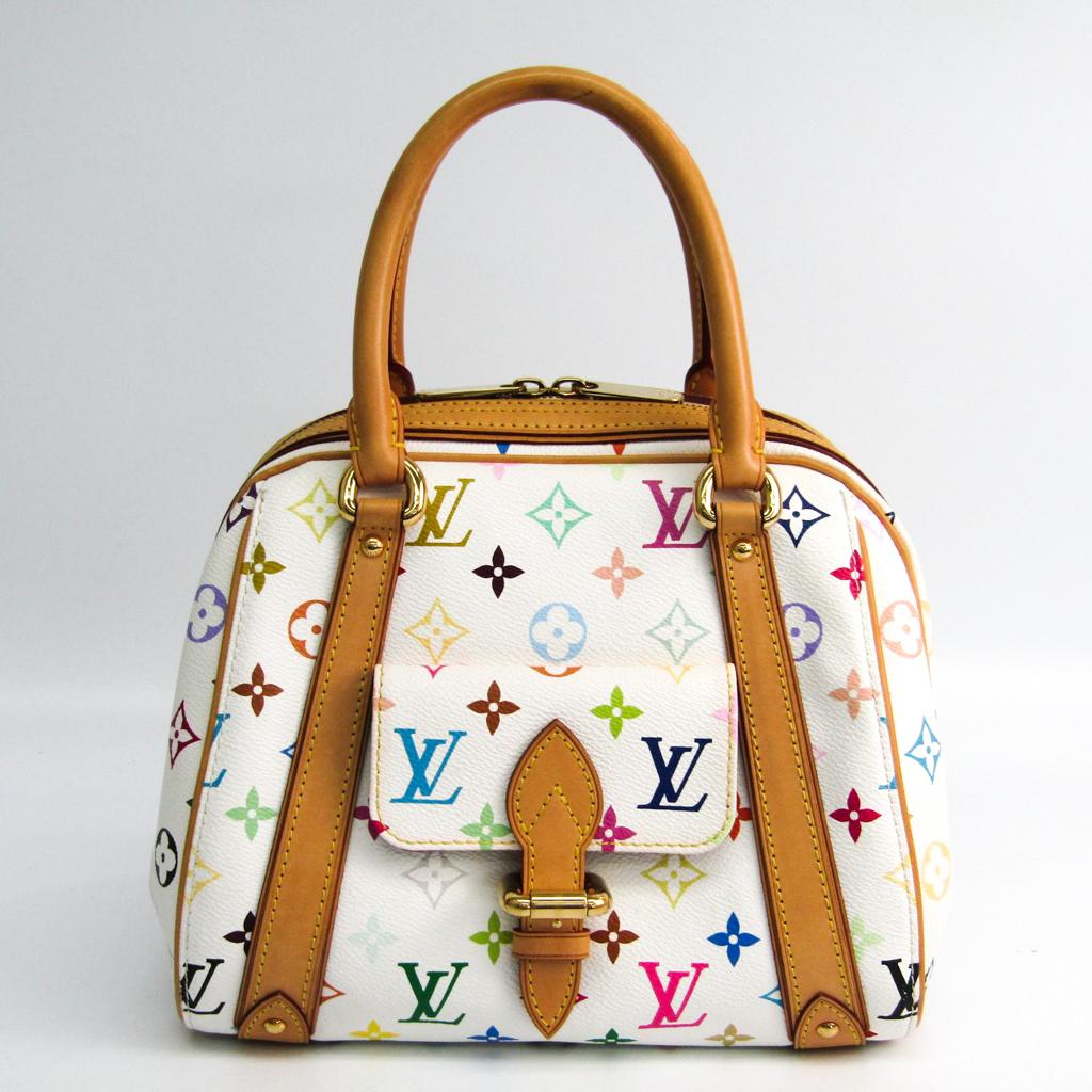 ルイ・ヴィトン(Louis Vuitton) モノグラムマルチカラー プリシラ M40096 ハンドバッグ ブロン 【中古】