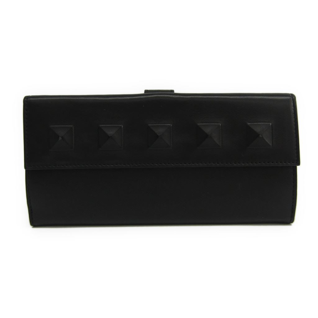 buy online 3b901 d756d ボッテガ Benatar (Bottega Veneta) 134075 lady's lamb leather long wallet  (folio) black