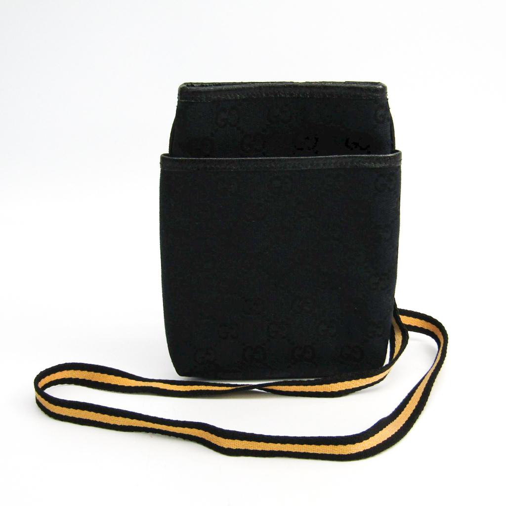 グッチ(Gucci) 141863 レディース GGキャンバス ポシェット ブラック,イエロー 【中古】