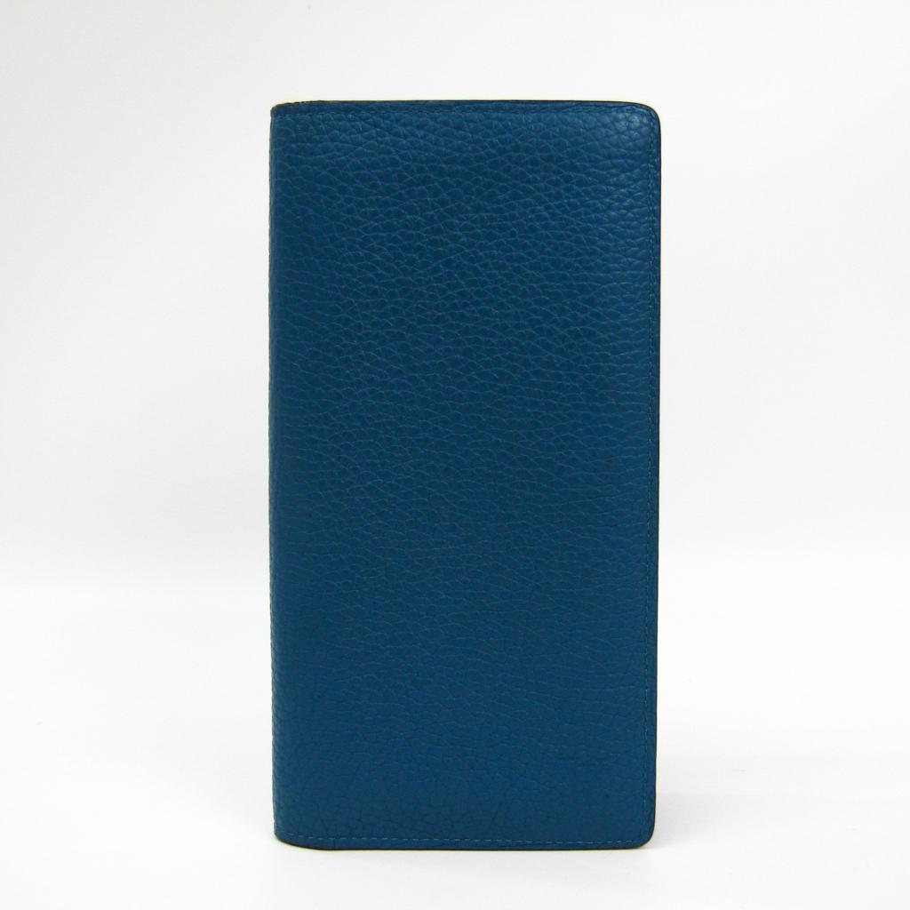 ルイ・ヴィトン(Louis Vuitton) トリヨン ポルトフォイユ・ブラザ M58193 メンズ レザー 長財布(二つ折り) ブルー 【中古】