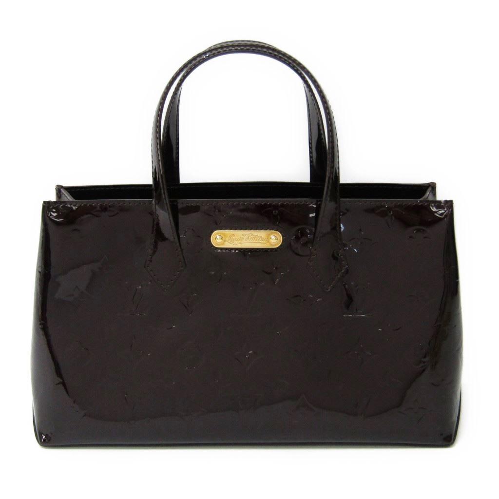 【中古】 ルイ・ヴィトン(Louis Vuitton) モノグラムヴェルニ ウィルシャーPM M93641 レディース ハンドバッグ アマラント