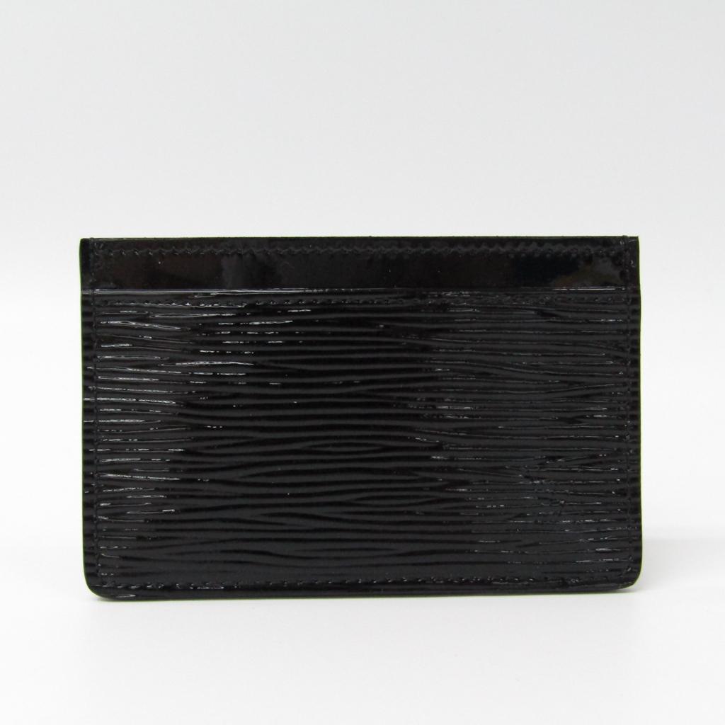 ルイ・ヴィトン(Louis Vuitton) エピレザー カードケース ノワール ポルト カルト サーンプル エピエレクトリック M6030N 【中古】