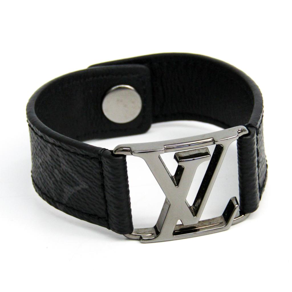 ルイ・ヴィトン(Louis Vuitton) モノグラムエクリプス ブレスレット モノグラムエクリプス ブラスレ・ホッケンハイム M6295D 【中古】