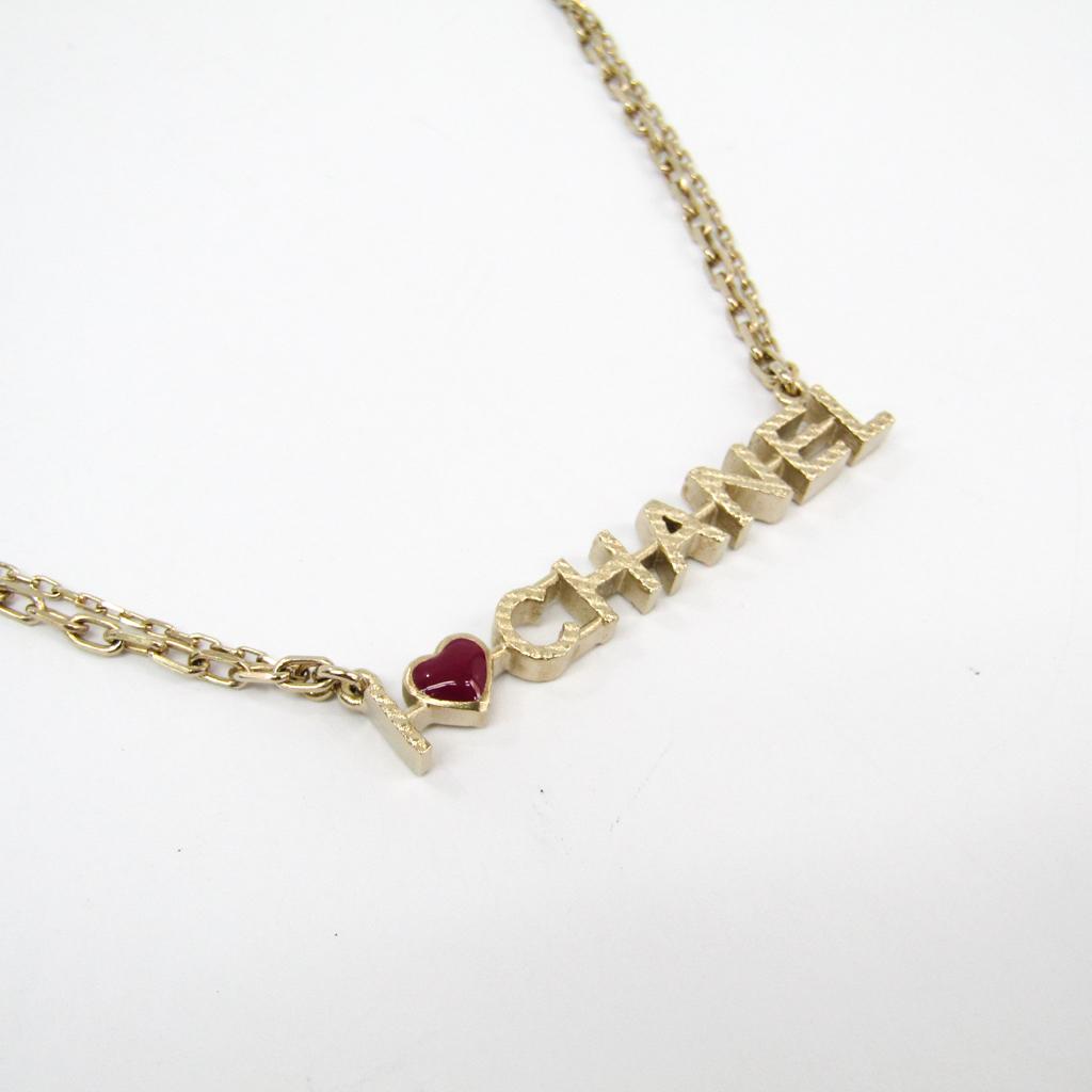 シャネル(Chanel) メタル レディース ペンダントネックレス (ゴールド,レッド) A98209 【中古】