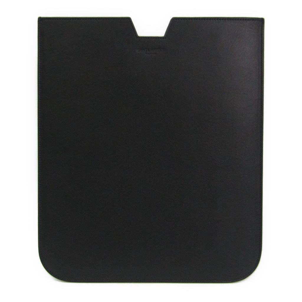 サン・ローラン(Saint Laurent) ケース iPad 対応 ブラック 315869 【中古】