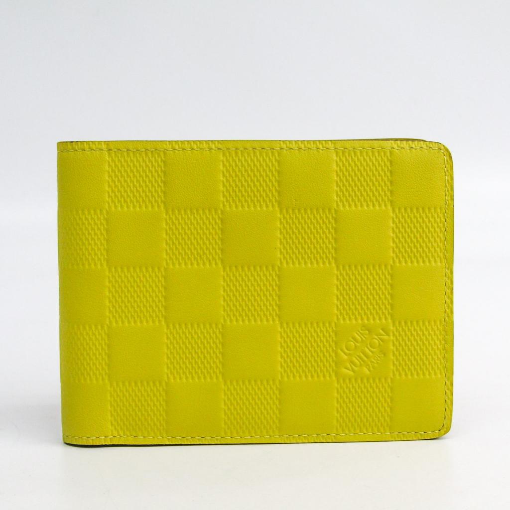 ルイ・ヴィトン(Louis Vuitton) ダミエアンフィニ N62232 メンズ トリヨンレザー 札入れ(二つ折り) イエロー 【中古】