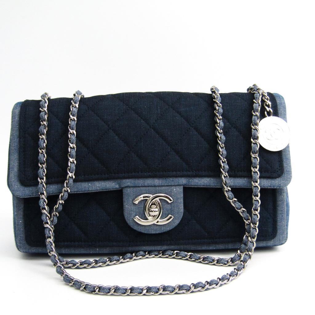 シャネル(Chanel) マトラッセ A92216 レディース デニム ショルダーバッグ ネイビー,ブルー 【中古】