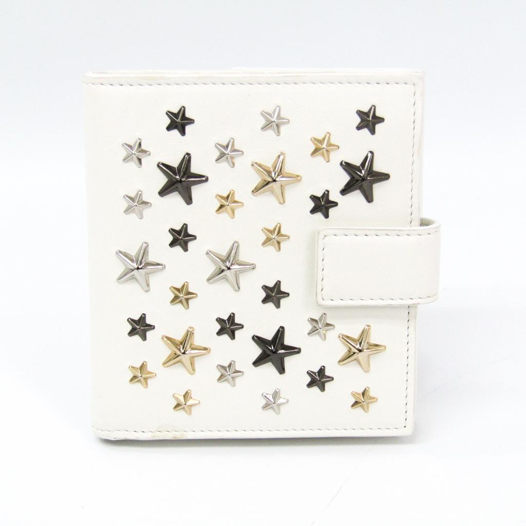 ジミー・チュウ(Jimmy Choo) FRIDA レディース レザー 財布(二つ折り) ホワイト 【中古】