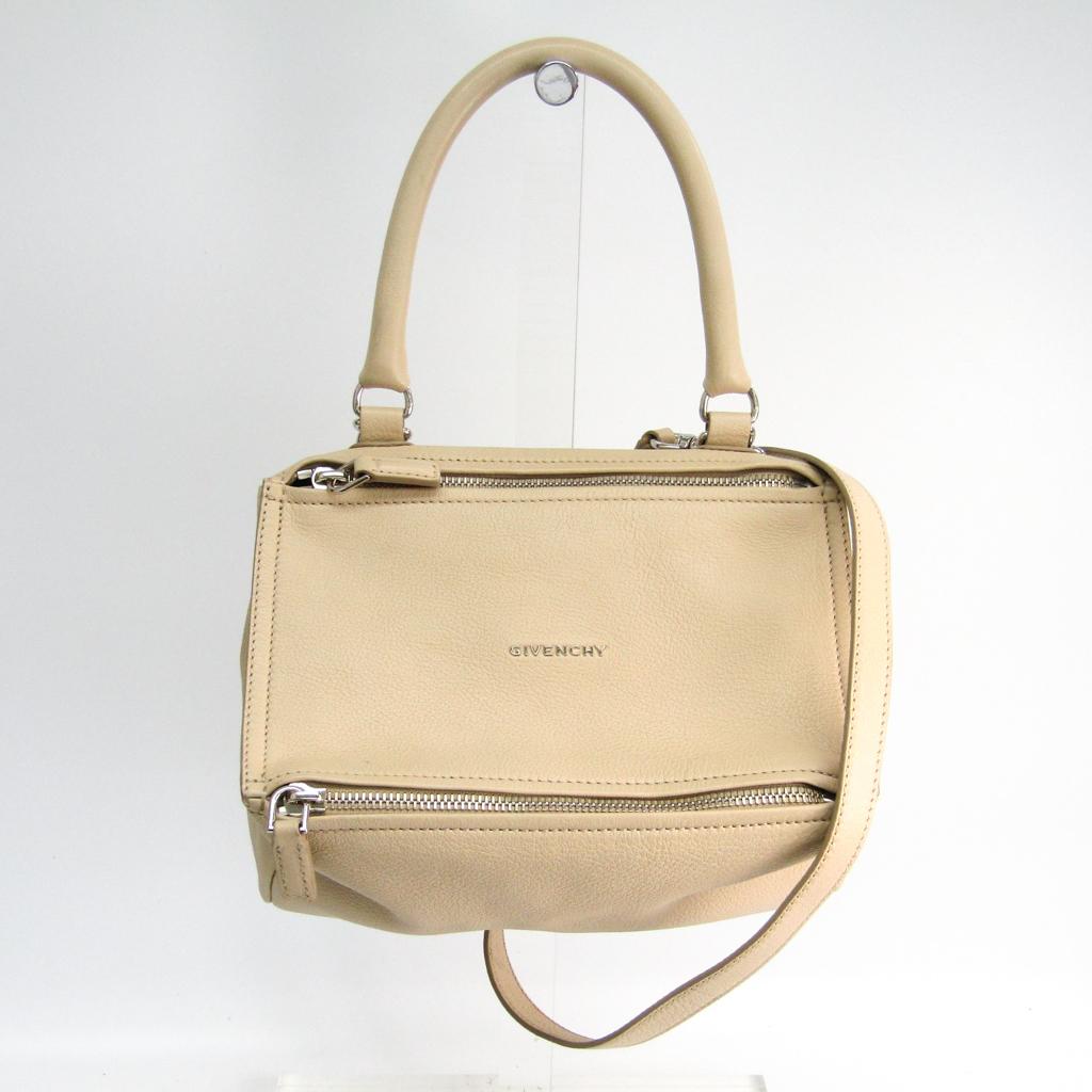 38e75d7d1a ジバンシィ (Givenchy) Pandora Small BB05251013 Lady s leather handbag light beige