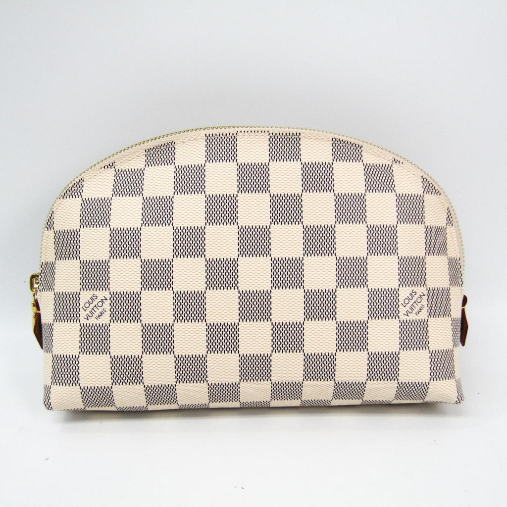 ルイ・ヴィトン(Louis Vuitton) ダミエ ポシェット・コスメティックGM N23346 ポーチ アズール 【中古】