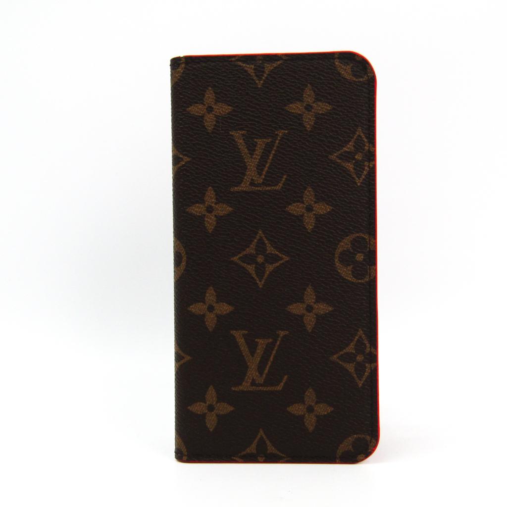 398c02b1f8 Case iPhone 7 Plus-adaptive rouge IPHONE7+ 8+. folio M63404 with the Louis  Vuitton (Louis Vuitton) monogram monogram notebook type / card case