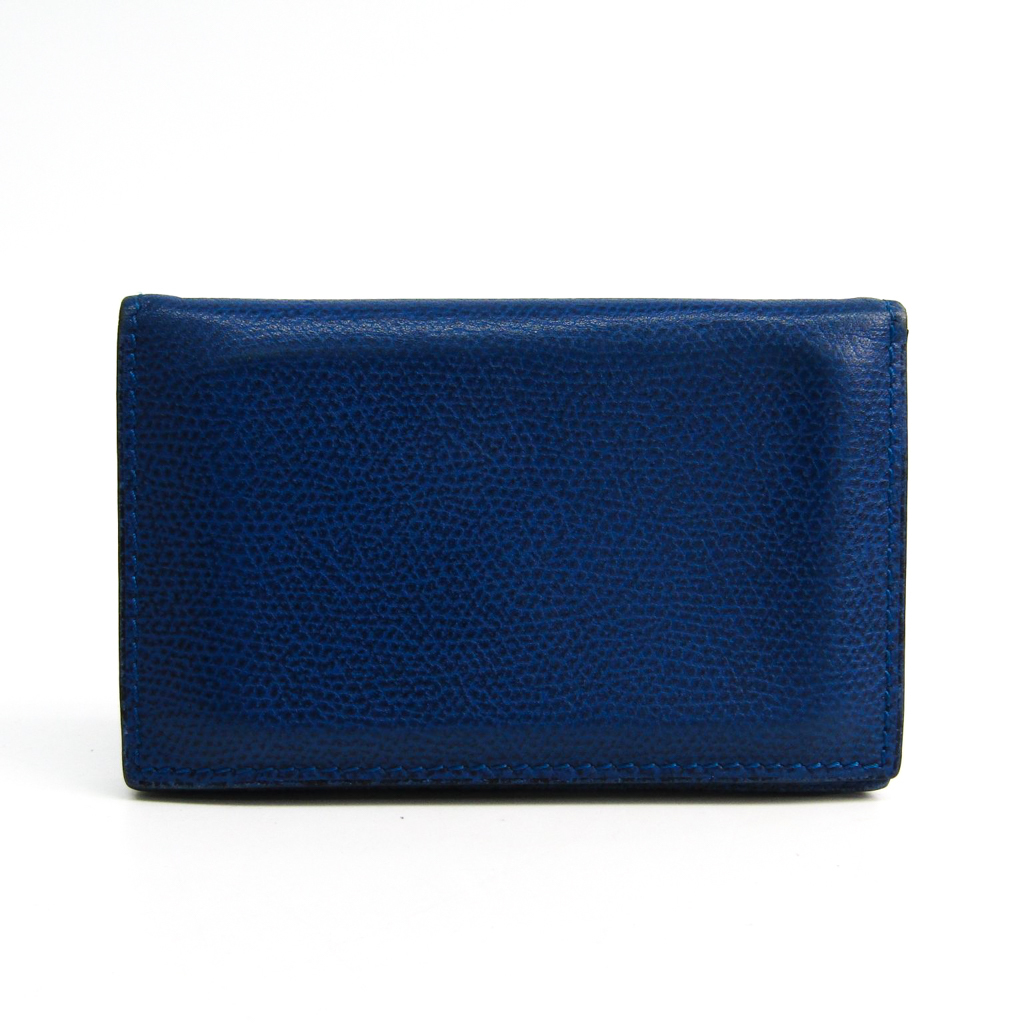 db756989e81 eLADY: ヴァレクストラ (Valextra) leather card case royal blue V8L03 ...