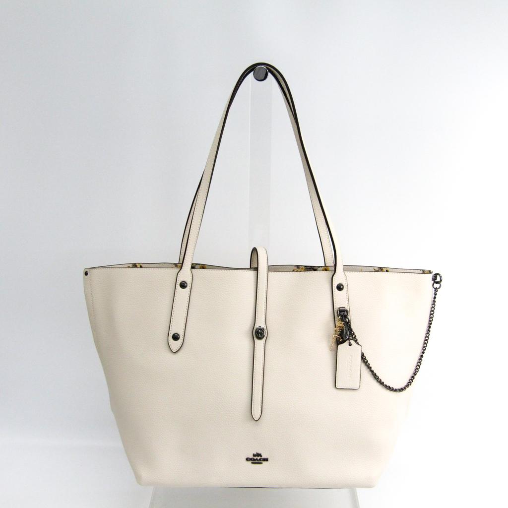3804ea42e Coach (Coach) market Thoth Prairie print 59093 Lady's leather tote bag  white ...