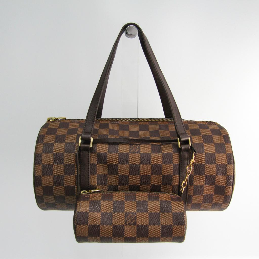 9233e58dd4d2 ルイ・ヴィトン(Louis Vuitton) ダミエ パピヨン30 N51303 レディース ハンドバッグ エベヌ 【中古