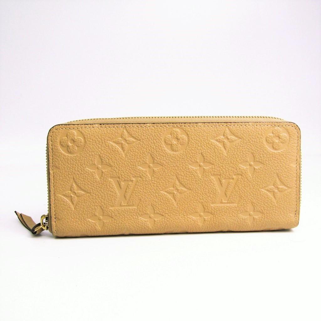 ルイ・ヴィトン(Louis Vuitton) モノグラムアンプラント ポルトフォイユ・クレマンス M60173 レディース レザー 長財布(二つ折り) デュンヌ 【中古】