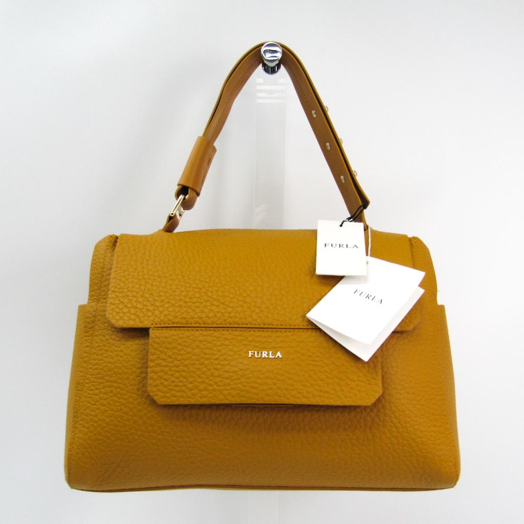 eLADY  Full lah (Furla) capriccio M Lady s leather handbag yellow ...