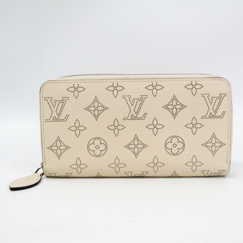 ルイ・ヴィトン(Louis Vuitton) ジッピー・ウォレット M61869 レディース マヒナ 長財布(二つ折り) イヴォワール 【中古】