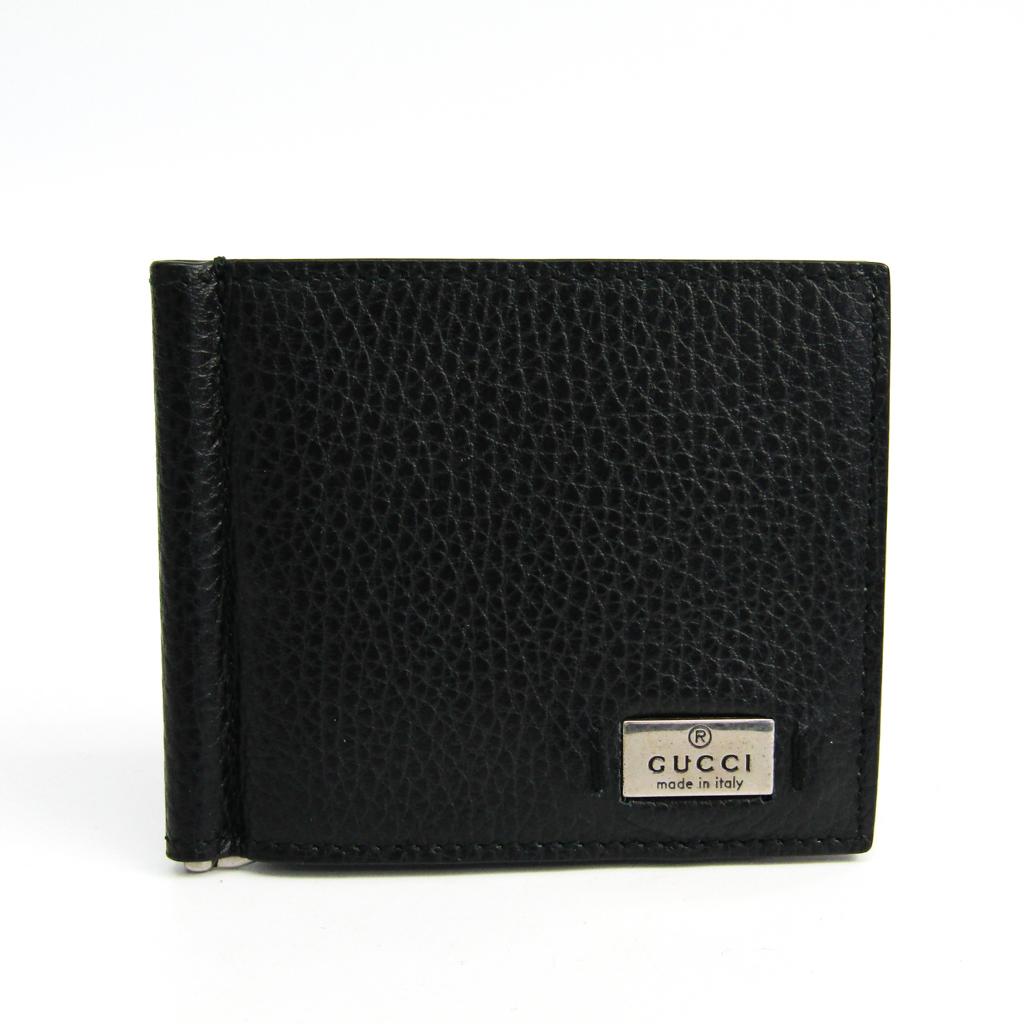 グッチ(Gucci) 352355 メンズ レザー マネークリップ ブラック 【中古】