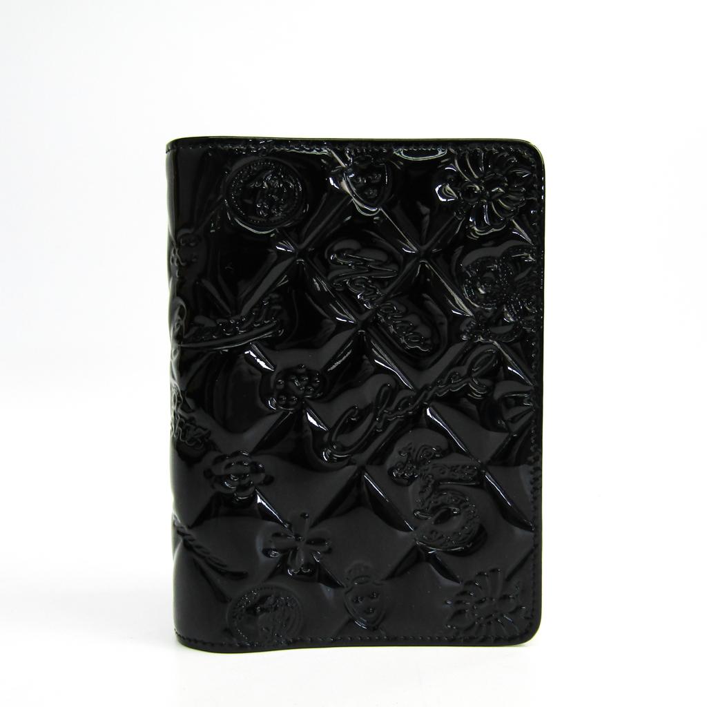 シャネル(Chanel) 手帳 ブラック アイコン シンボルチャーム 【中古】