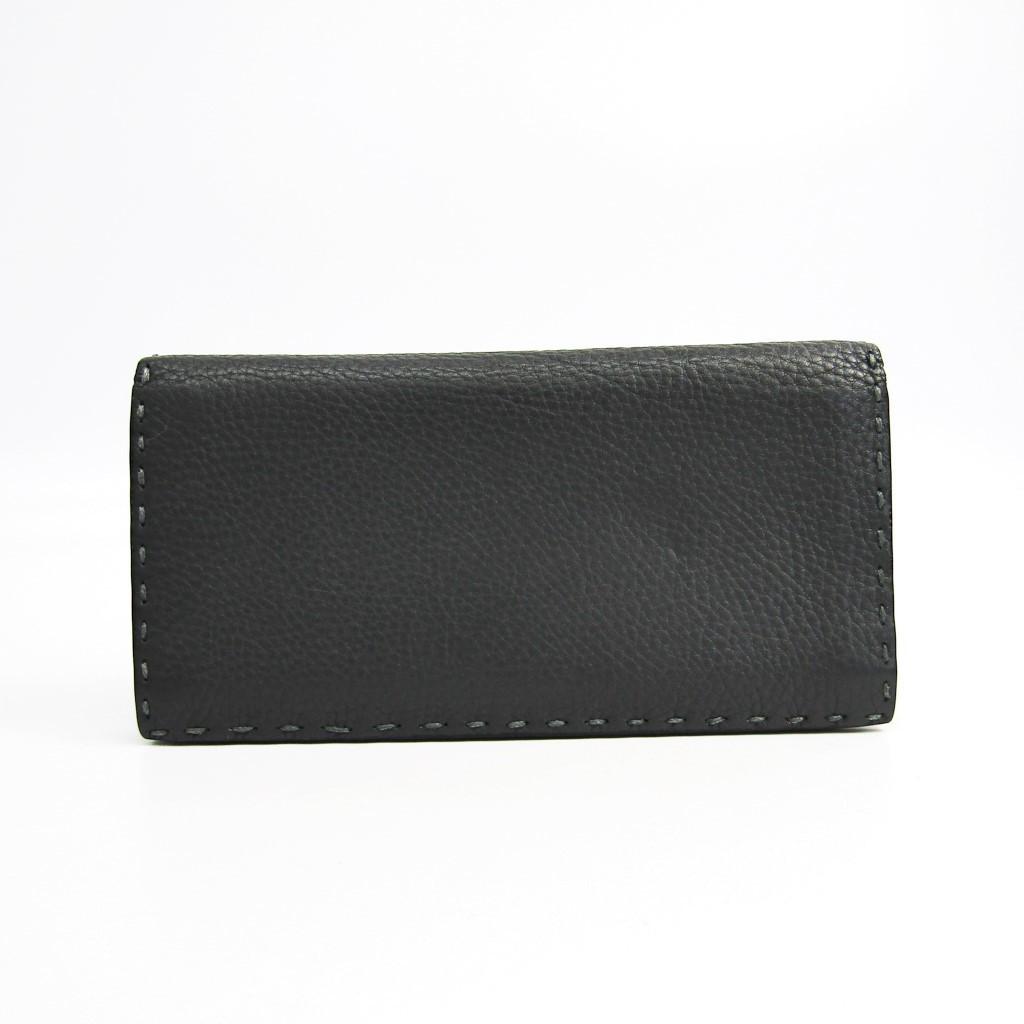フェンディ(Fendi) セレリア 7M0186 ユニセックス レザー 長財布(二つ折り) グレー 【中古】