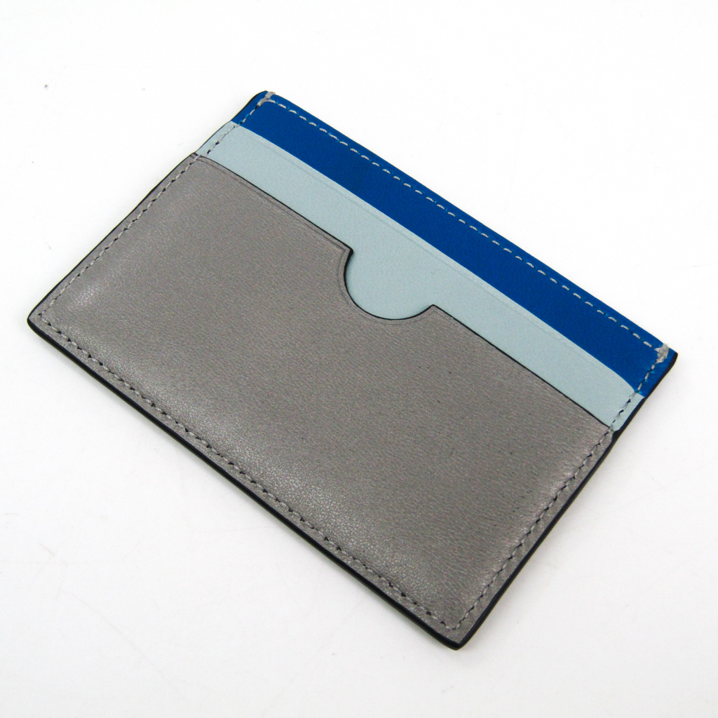1b8744a04fc2 ロエベ(Loewe) 109.99T320 レザー ブルー,グレー 【中古】 カードケース ...