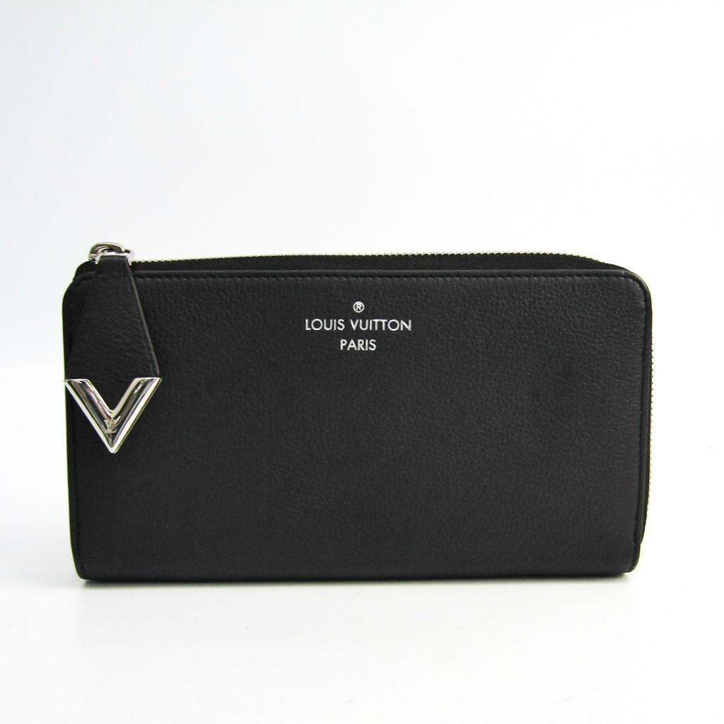 ルイ・ヴィトン(Louis Vuitton) M60146 ヴォーカシミールレザー 長財布(二つ折り) ブラック 【中古】